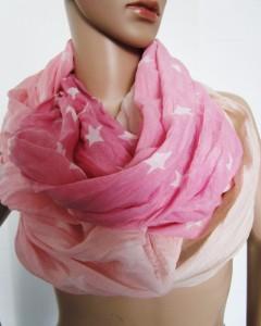 Loopschal rosa Sterne, Art.Nr.1132